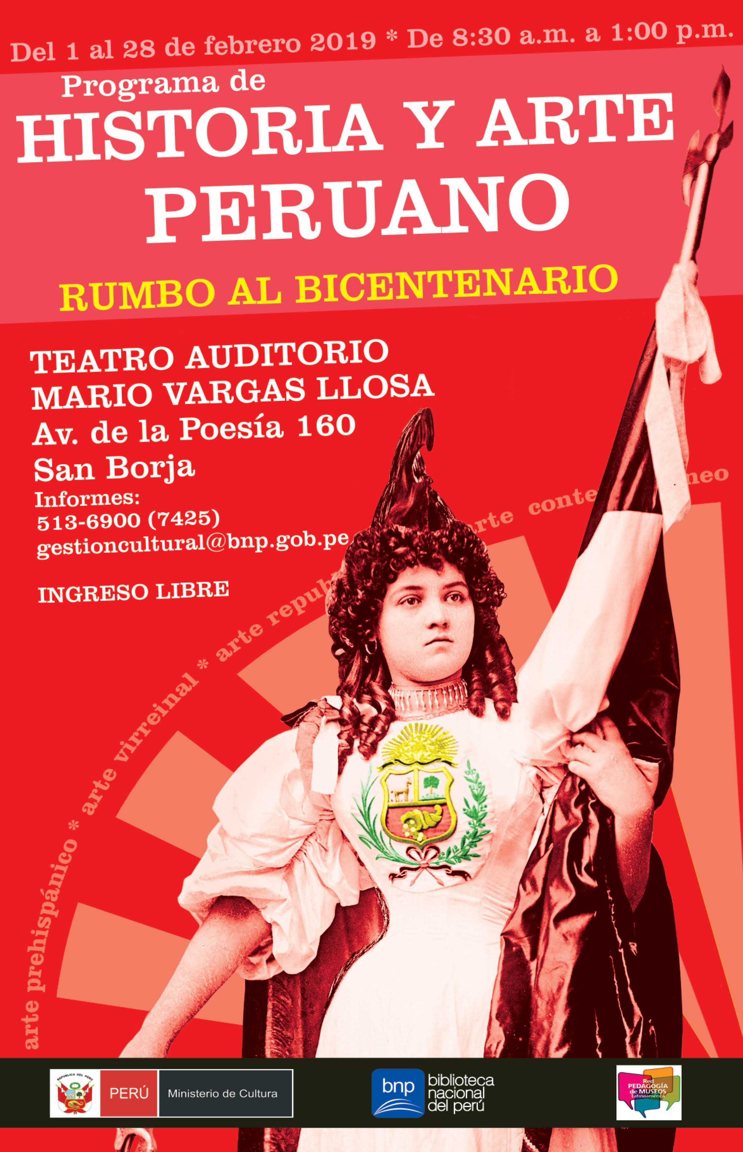 Bnp Realiza Curso Gratuito Historia Y Arte Peruano Rumbo Al Bicentenario Biblioteca Nacional Del Peru Bnp