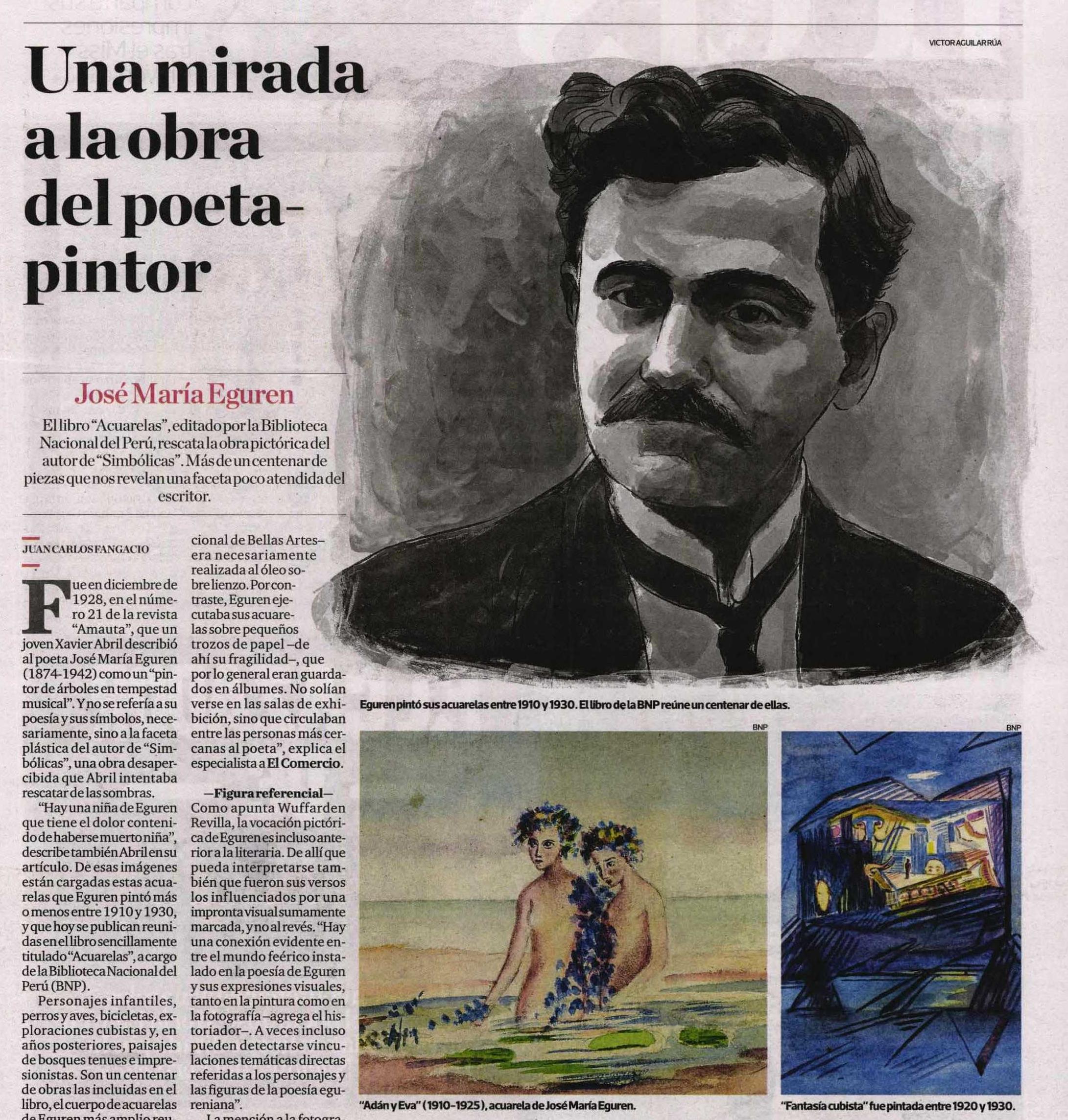 Publicación realizada en el diario El Comercio el 19 de mayo del 2021.